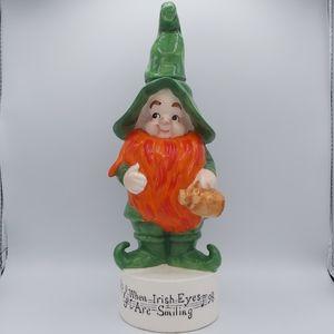Vintage Musical Box Figure Leprechaun Irish Eyes